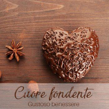 acchetto benessere Cuore fondente massaggio al cioccolato