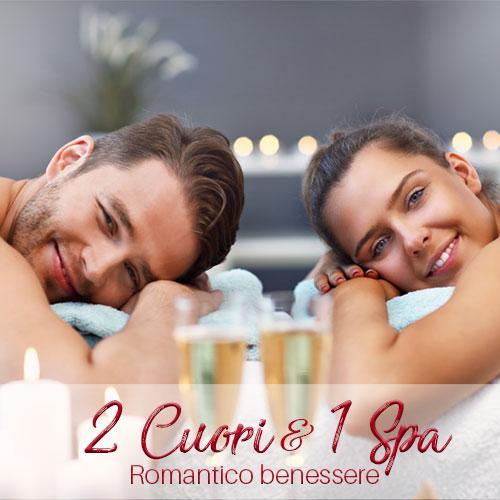 pacchetto benessere di coppia 2 Cuori e 1 Spa
